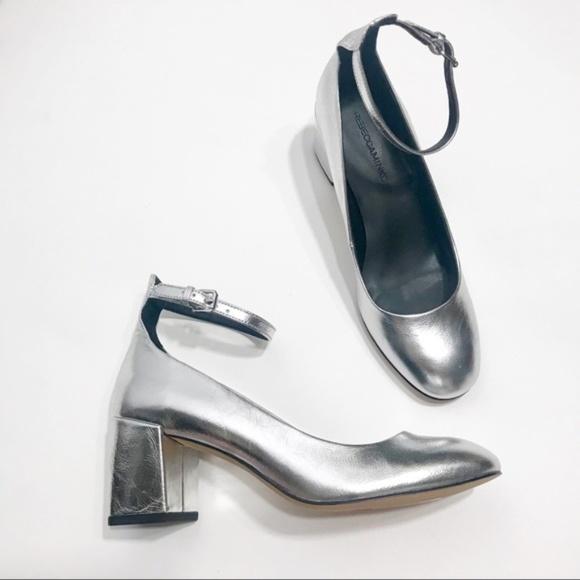 ed908dfda40bd Rebecca Minkoff Shoes | Mary Jane Silver Low Heel Pumps | Poshmark